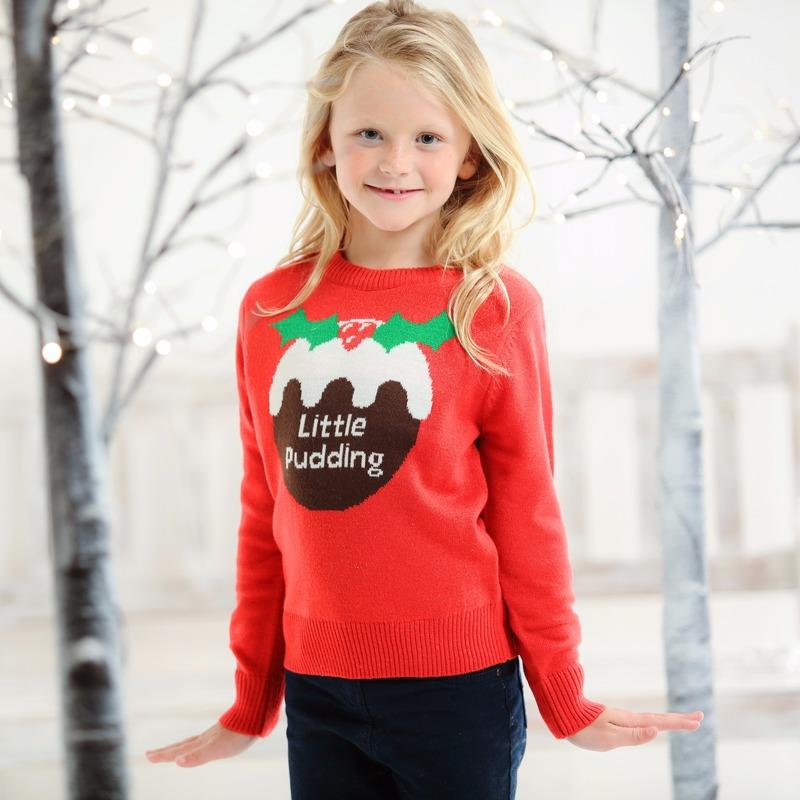 Kersttrui Morgen In Huis.Kerst Kado Foute Kids Kersttrui Little Pudding In Kerst Kostuums Winkel