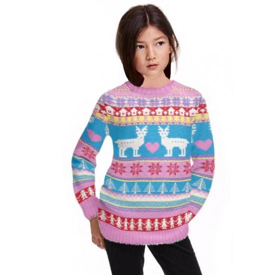 Frozen Kersttrui.Kerst Kado Kids Kersttrui Roze In Kerst Kostuums Winkel